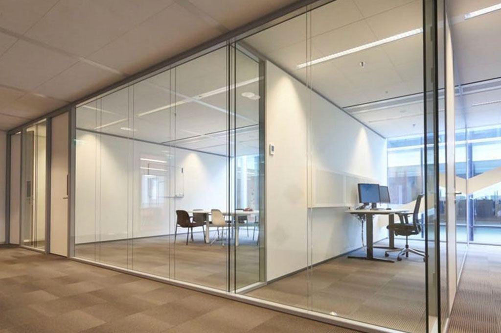 Çift Camlı Cam Cama Ofis Bölme Sistemi