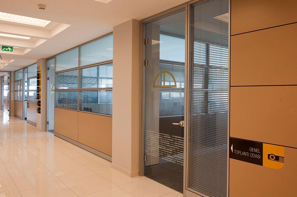 Çift Cam Jaluzili Ofis Bölme Sistemi
